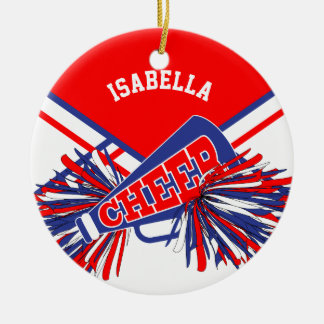 Cheerleader - Red, White and Blue Christmas Ornament
