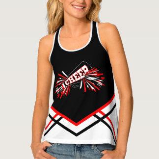 Cheerleader - Red, white & Black Tank Top