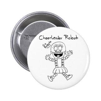Cheerleader Robot 6 Cm Round Badge