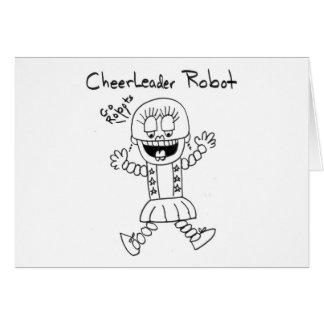 Cheerleader Robot Greeting Card