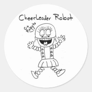 Cheerleader Robot Sticker
