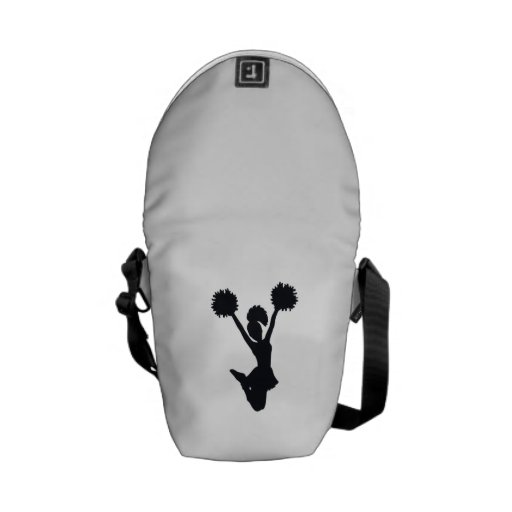 Cheerleader Silhouette Courier Bag
