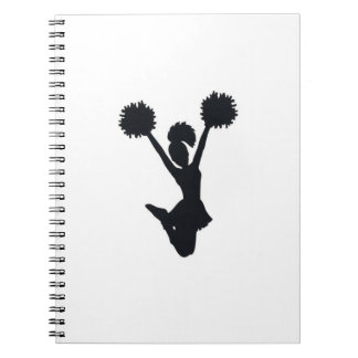 Cheerleader Silhouette Notebook