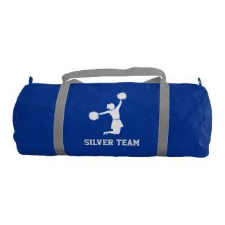 Cheerleader Silhouette On Gym Bag Gym Duffel Bag