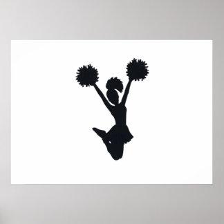 Cheerleader Silhouette Posters