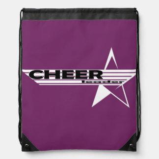 Cheerleader Star Design Bag Drawstring Backpacks