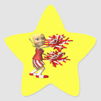 Cheerleader Star Sticker