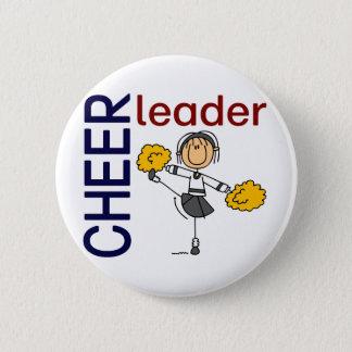 Cheerleader Stick Figure 6 Cm Round Badge