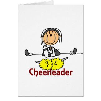 Cheerleader Stick Figure Card