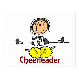 Cheerleader Stick Figure Postcard