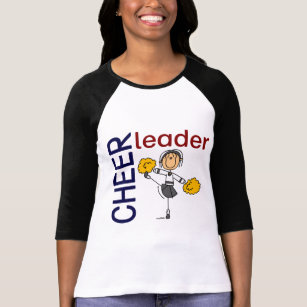 Cheerleader Stick Figure T-Shirt