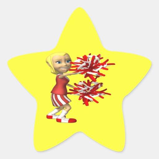Cheerleader Star Stickers