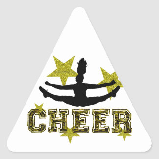 Cheerleader Triangle Stickers
