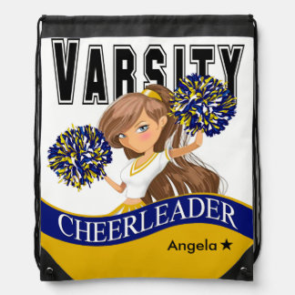 Cheerleader Team Colors | gold navy Backpack