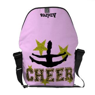 Cheerleader toe touch messenger bag