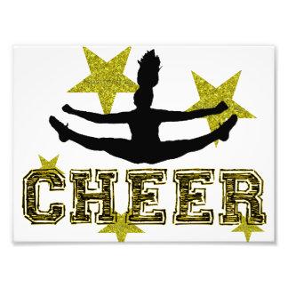 Cheerleader toe touch photo art