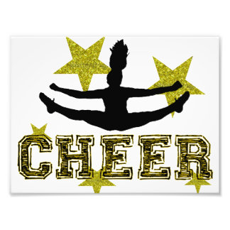 Cheerleader toe touch photo print