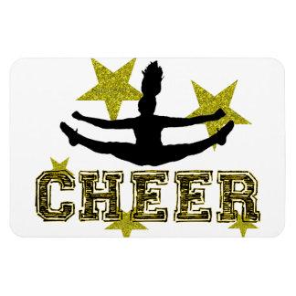 Cheerleader toe touch rectangular photo magnet