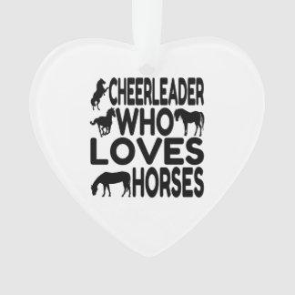 Cheerleader Who Loves Horses Ornament
