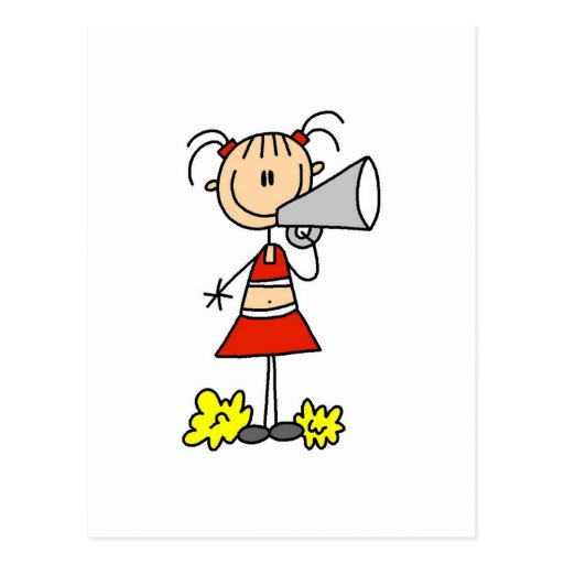 Cheerleader with Megaphone Tshirts and Gifts Postcards