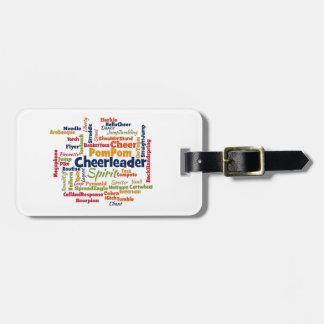 Cheerleader Word Cloud (Cheer Leader) Luggage Tag