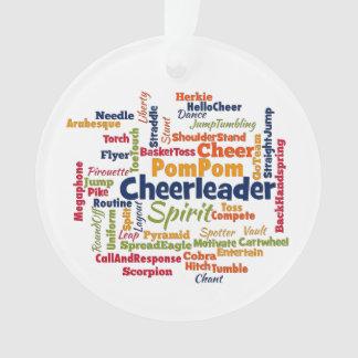 Cheerleader Word Cloud (Cheer Leader) Ornament
