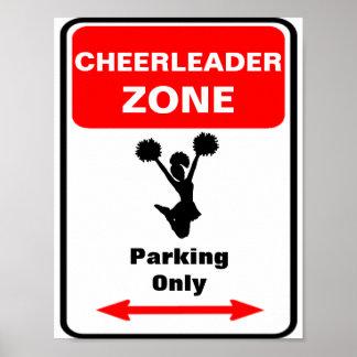 CHEERLEADER Zone Parking Sign Poster