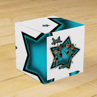 """""""Cheerleaders Birthday Favor Box Classic 2x2"""" Favour Boxes"""