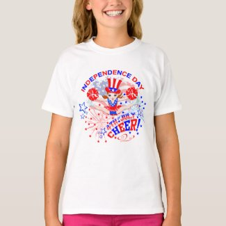 Cheerleader's, Independence Day, 4th July, Cheer T-Shirt