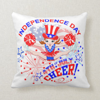 Cheerleader's, Independence Day, 4th July, Cheer Throw Pillow