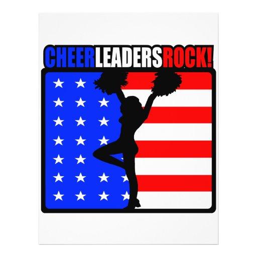 Cheerleaders Rock! Flyer Design