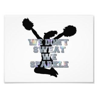 Cheerleaders we sparkle photographic print