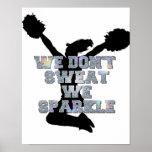 Cheerleaders we sparkle print