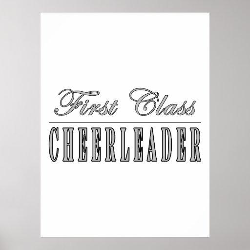 Cheerleading Cheerleaders First Class Cheerleader Posters