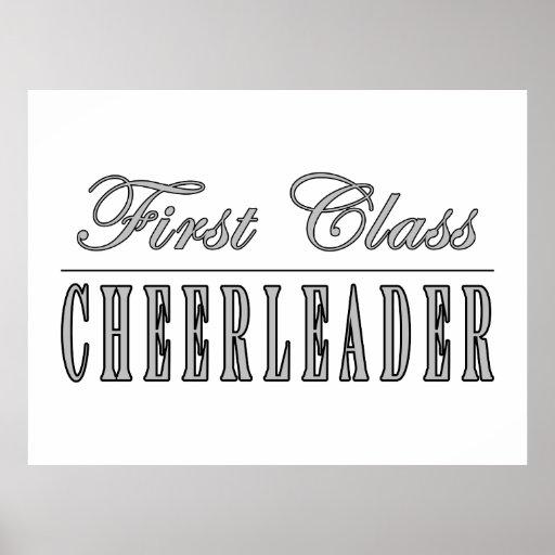 Cheerleading Cheerleaders First Class Cheerleader Poster