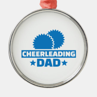 Cheerleading Dad Silver-Colored Round Decoration