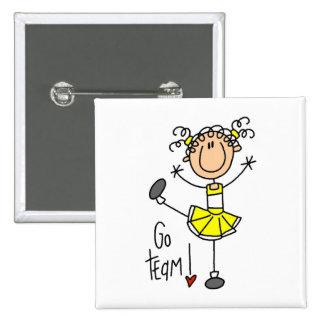 Cheerleading Gift 15 Cm Square Badge