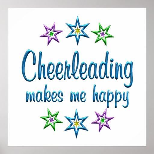 Cheerleading Happy Print