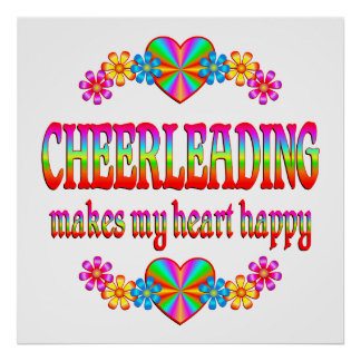 Cheerleading Heart Happy Poster