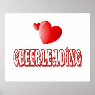 Cheerleading Hearts Poster