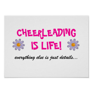 cheerleading is life poster