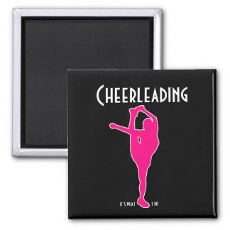 Cheerleading It's What I Do Magnet Black and Pink