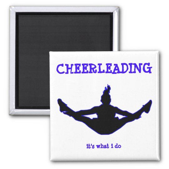 Cheerleading: it's what i do toe-touch key chain square magnet