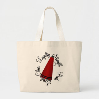 Cheerleading Large Tote Bag