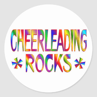 Cheerleading Rocks Classic Round Sticker