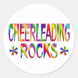 Cheerleading Rocks Round Sticker