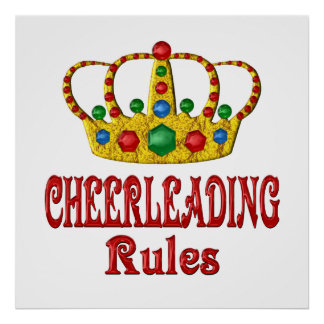 CHEERLEADING RULES POSTERS