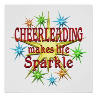 Cheerleading Sparkles Poster