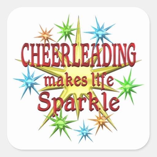 Cheerleading Sparkles Sticker