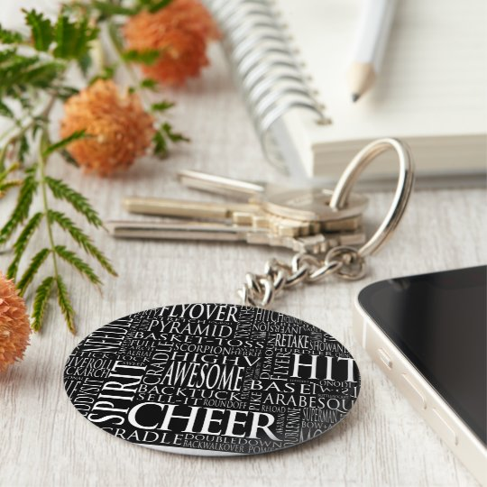 Cheerleading Word Cloud Key chain